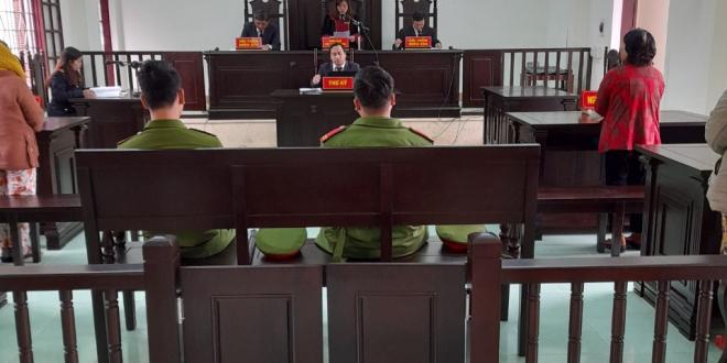 Quang cảnh phiên tòa rút kinh nghiệm